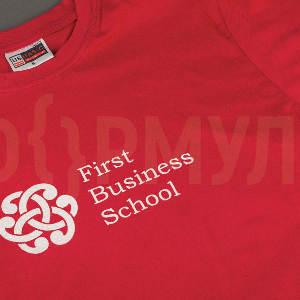 Футболка с логотипом   First Business School
