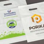 Пакеты пластиковые с логотипом Транснефть и Porikam