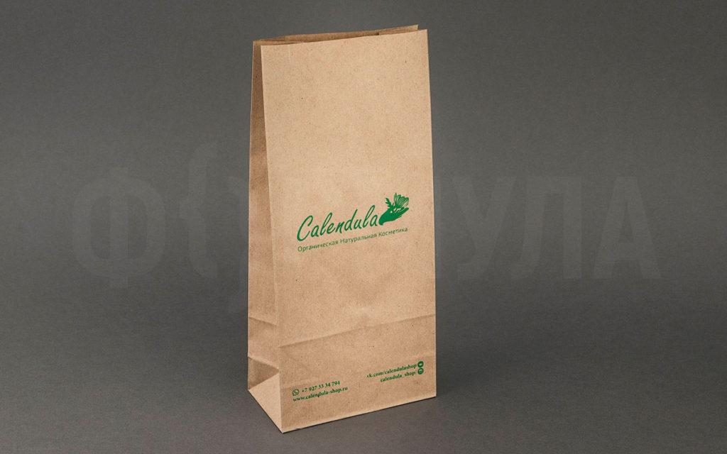 Бумажный пакет c логотипом | Calendula