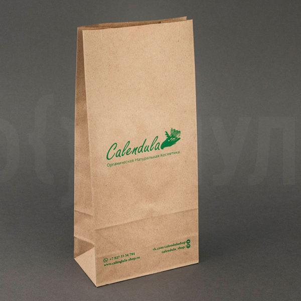 Бумажный пакет c логотипом   Calendula