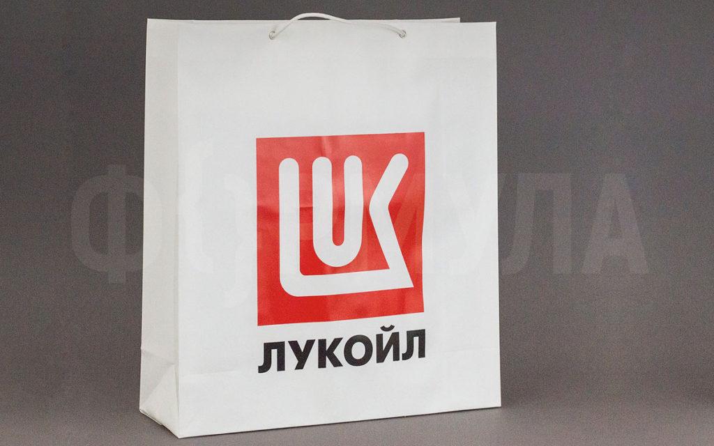 Пластиковый пакет с веревочными ручками | Лукойл