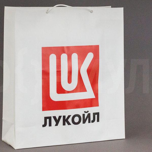 Пластиковый пакет с веревочными ручками   Лукойл
