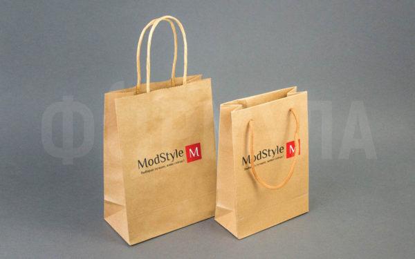 Бумажный пакет с логотипом | ModStyle