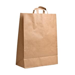 Крафт-пакет с плоскими ручками